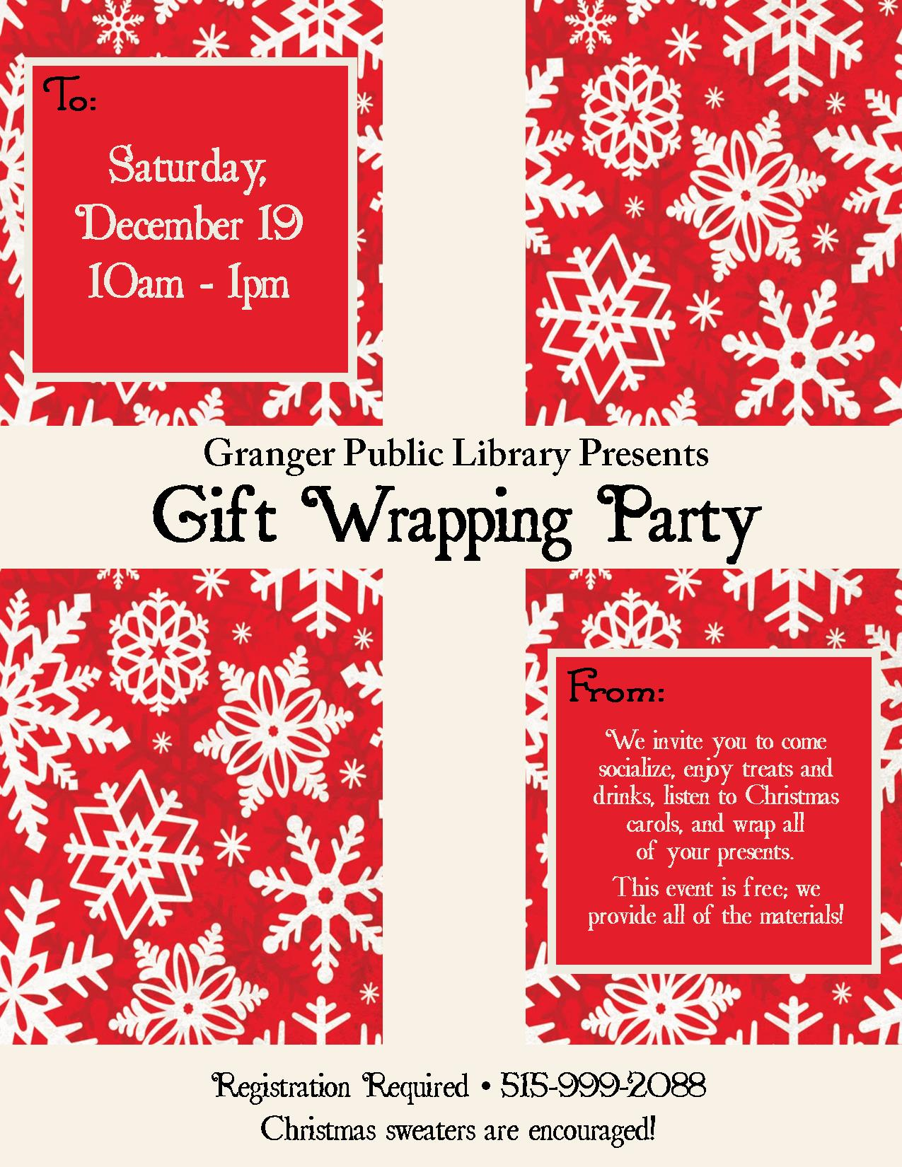Granger Gift Wrapping Program Flyer :: City of Granger