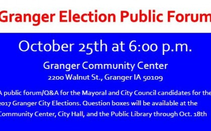 Granger Election Forum question boxes
