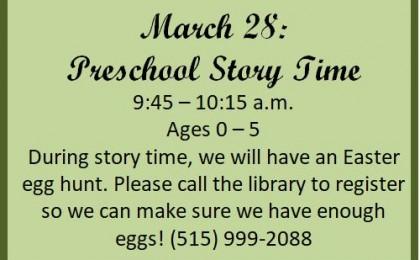 story time easter egg