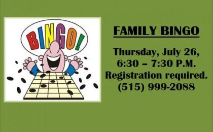 july 26 bingo