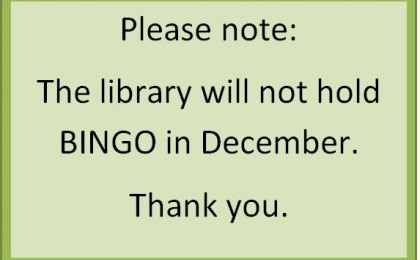 no bingo in december