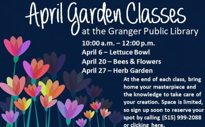 april garden classes