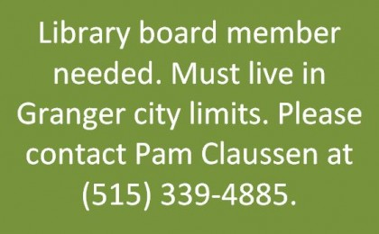 library board member needed 2019