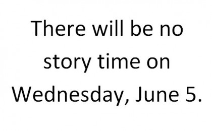 no story time june